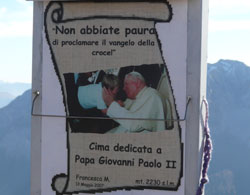 Cima papa Giovanni Paolo II