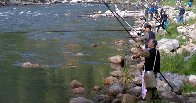 Pesca sul Fiume Brembo