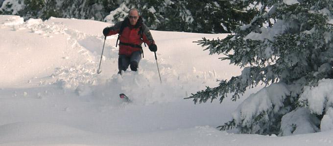 sciare in Valle Brembana