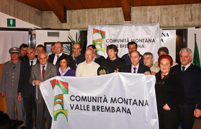 Davide Milesi premiato dalla Comunità Brembana
